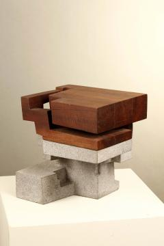 Jorge Y zpik Untitled Sculpture wood and volcanic stone - 1147023