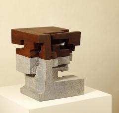 Jorge Y zpik Untitled Sculpture wood and volcanic stone - 1147025