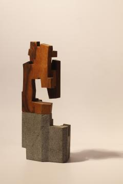 Jorge Y zpik Untitled Sculpture wood and volcanic stone II - 1147119
