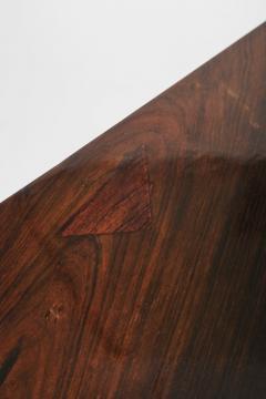 Jorge Zalszupin Brazilian Jorge Zalszupin triangular table rosewood 50s - 1856578