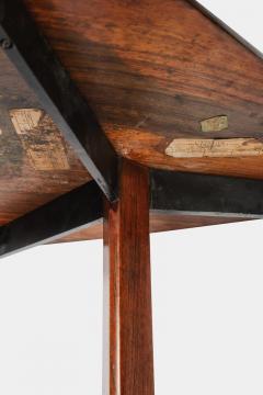 Jorge Zalszupin Brazilian Jorge Zalszupin triangular table rosewood 50s - 1856590