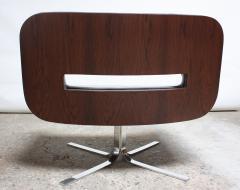 Jorge Zalszupin Brazilian Modern Jacaranda and Leather Swiveling Lounge Chair by Jorge Zalszupin - 577068