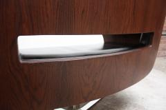 Jorge Zalszupin Brazilian Modern Jacaranda and Leather Swiveling Lounge Chair by Jorge Zalszupin - 577071