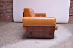 Jorge Zalszupin Brazilian Modern Rosewood and Leather Modular Sofa or Settees - 1147583