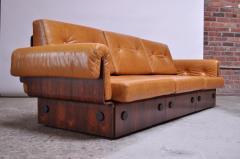 Jorge Zalszupin Brazilian Modern Rosewood and Leather Modular Sofa or Settees - 1147585