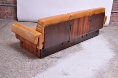 Jorge Zalszupin Brazilian Modern Rosewood and Leather Modular Sofa or Settees - 1147586