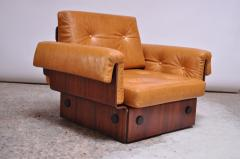 Jorge Zalszupin Brazilian Modern Rosewood and Leather Modular Sofa or Settees - 1147590