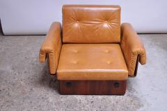 Jorge Zalszupin Brazilian Modern Rosewood and Leather Modular Sofa or Settees - 1147593