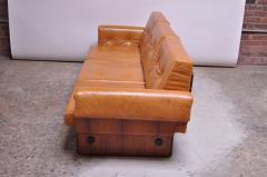 Jorge Zalszupin Brazilian Modern Rosewood and Leather Modular Sofa or Settees - 1147594