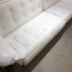 Jorge Zalszupin Brazilian Sofa in Jacaranda and White Leather - 1083780