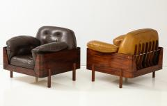 Jorge Zalszupin Brazilian Sofa in Jacaranda and White Leather - 1083782