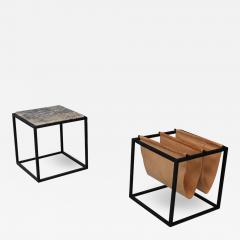 Jorge Zalszupin Domino magazine rack with table by Jorge Zalszupin - 1065818