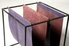 Jorge Zalszupin Mid Century Modern Leather Magazine Rack by Jorge Zalszupin Brazil 1960s - 1485371