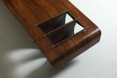Jorge Zalszupin Mid Century Modern Onda Wave Bench by Jorge Zalszupin Brazil 1960s - 1212755