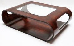 Jorge Zalszupin Pair of 1960s Zalszupin Style Brazilian Jacaranda Coffee Tables with Glass Top - 481588