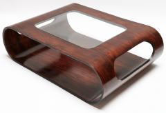 Jorge Zalszupin Pair of 1960s Zalszupin Style Brazilian Jacaranda Coffee Tables with Glass Top - 481589
