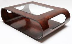 Jorge Zalszupin Pair of 1960s Zalszupin Style Brazilian Jacaranda Coffee Tables with Glass Top - 481592