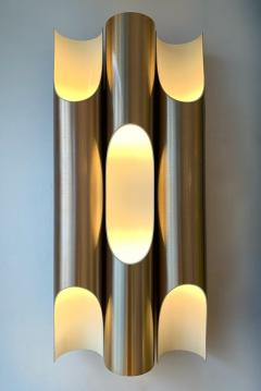 Jorgen Mogensen Pair of Maxi Fuga Sconces Gilt Metal by Komulainen for Raak Amsterdam 1970s - 1177519