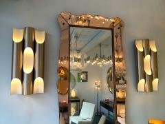 Jorgen Mogensen Pair of Maxi Fuga Sconces Gilt Metal by Komulainen for Raak Amsterdam 1970s - 1177522