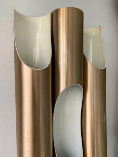 Jorgen Mogensen Pair of Maxi Fuga Sconces Gilt Metal by Komulainen for Raak Amsterdam 1970s - 1177523