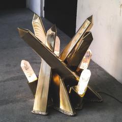 Jos De Matos Rock crystal sculpture table - 1037605