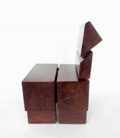 Jos Zanine Caldas Sculptural Low Brazilian Organic Modernist Design Vintage Rosewood Chair - 1020343