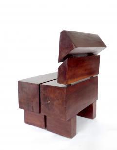 Jos Zanine Caldas Sculptural Low Brazilian Organic Modernist Design Vintage Rosewood Chair - 1020344