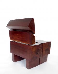 Jos Zanine Caldas Sculptural Low Brazilian Organic Modernist Design Vintage Rosewood Chair - 1020347