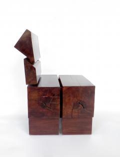 Jos Zanine Caldas Sculptural Low Brazilian Organic Modernist Design Vintage Rosewood Chair - 1020349