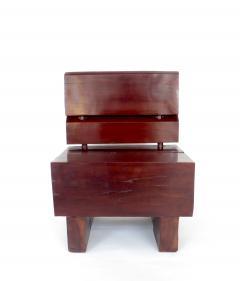 Jos Zanine Caldas Sculptural Low Brazilian Organic Modernist Design Vintage Rosewood Chair - 1020351