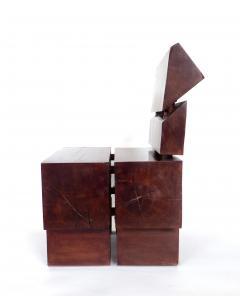 Jos Zanine Caldas Sculptural Low Brazilian Organic Modernist Design Vintage Rosewood Chair - 1020352