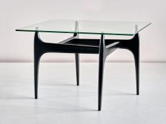 Jos de Mey Jos De Mey Coffee Table in Black Lacquered Wood Luxus Kortrijk Belgium 1957 - 1901110