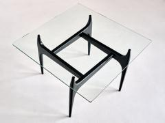 Jos de Mey Jos De Mey Coffee Table in Black Lacquered Wood Luxus Kortrijk Belgium 1957 - 1901115