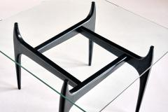 Jos de Mey Jos De Mey Coffee Table in Black Lacquered Wood Luxus Kortrijk Belgium 1957 - 1901116