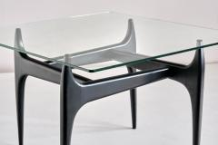 Jos de Mey Jos De Mey Coffee Table in Black Lacquered Wood Luxus Kortrijk Belgium 1957 - 1901117