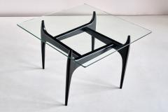Jos de Mey Jos De Mey Coffee Table in Black Lacquered Wood Luxus Kortrijk Belgium 1957 - 1901118