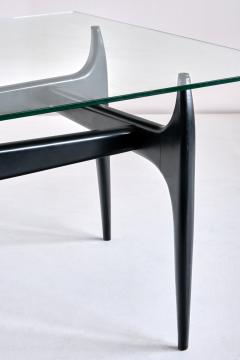 Jos de Mey Jos De Mey Coffee Table in Black Lacquered Wood Luxus Kortrijk Belgium 1957 - 1901121