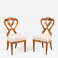 Josef Danhauser A Pair of Two Exceptional Biedermeier Chairs - 458843