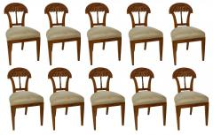 Josef Danhauser A Superb Set of Ten Viennese Biedermeier Dining Side Chairs Josef Danhauser - 1338258
