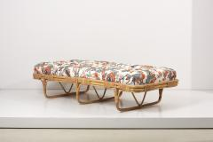Josef Frank 1950s Basket Daybed in a Josef Frank Style Fabric - 2139581