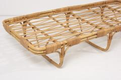 Josef Frank 1950s Basket Daybed in a Josef Frank Style Fabric - 2139585