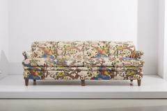 Josef Frank 4 Seat Sofa with Floral Fabric by Josef Frank for Svenskt Tenn 1950s - 1504633