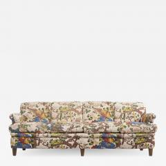 Josef Frank 4 Seat Sofa with Floral Fabric by Josef Frank for Svenskt Tenn 1950s - 1509592