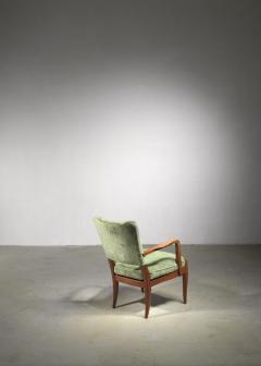 Josef Frank Josef Frank mahogany and velvet armchair - 1490808