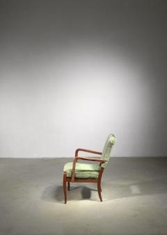 Josef Frank Josef Frank mahogany and velvet armchair - 1490809