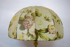 Josef Frank Large art deco table lamp with cream colored floral fabric screen - 1338475