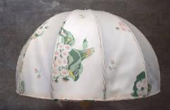 Josef Frank Large art deco table lamp with cream colored floral fabric screen - 1338495