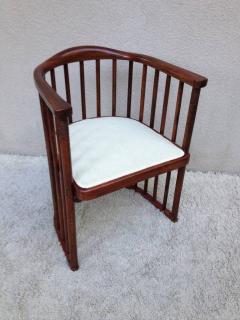 High Quality Josef Hoffman Joseph Hoffman For Khon Signed Barrel Chair   50953
