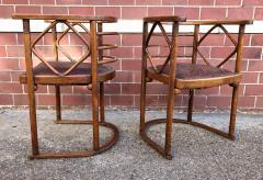 Josef Hoffmann Josef Hoffmann Fledermaus Chairs for J J Kohn - 1194552