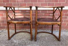 Josef Hoffmann Josef Hoffmann Fledermaus Chairs for J J Kohn - 1194554